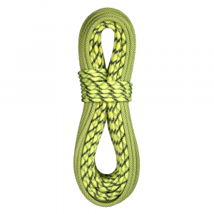 bluewater ropes lightning pro 9.7mm x 60m bi-pattern double dry rope- Save 9.% Off - The Bluewater Lightning Pro climbing rope is ideal for sport or extreme alpine climbing, with easy handling and easy-to-clip properties. Its low bulk, light weight and performance characteristics have made this rope the choice for many high-end endeavors, from sport to wall-in-a-day to alpine routes. Double-Dry treatment, which is applied to each individual fiber in the sheath and core, allows just 11% water absorption compared to the standard 20-30%, so that your rope remains light and flexible under adverse conditions. Double-Dry also increases rope longevity. * Main photo is Bi-pattern Green.