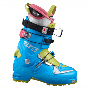 dynafit tlt 6 mountain cr at ski boot - women's- Save 28% Off - The Dynafit Women's TLT Mountain CR alpine touring boot is the right choice for expert skiers seeking a light boot for climbing, walking and training without compromising downhill fun. You can modify the degree of flex to suit your needs by using it together with the removable Downhill Booster tongue, the Ultra Lock Strap and the customizable forward lean of the cuff. TLT6 leads the field in ascents, thanks to the short sole and enhanced roll and mobility. Its rear spoiler and the Ultra-Lock Closure System 2.0 also make moving easier. The included Custom Ready liner provides out-of-the-box comfort and good thermal insulation. Main photo is Azure/Citro. Fall 2016 CLOSEOUTS