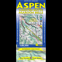 Sky Terrain Maps Aspen, Crested Butte & Maroon Bells - 4th Edition