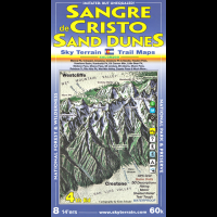 Sky Terrain Maps Sangre De Cristo and Great Sand Dunes National Park - 4th Edition