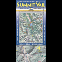 Sky Terrain Maps Summit, Vail & Holy Cross - 4th Edition