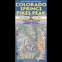 Sky Terrain Maps Colorado Springs, Pikes Peak - 4th Edition