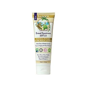 Zinc Oxide Sunscreen Lotion--SPF25 Unscented