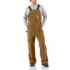 Men's Duck Zip-To-Thigh Bib Overall Pants (Unlined)