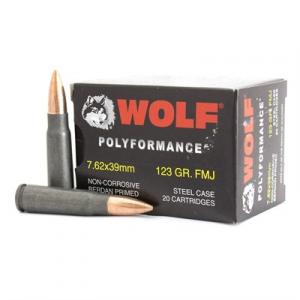 Wolf Polyformance Ammo 7.62x39mm 123gr Fmj