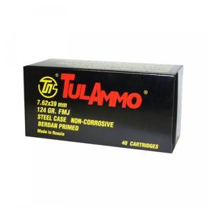 Tulammo Usa Steel Case Ammo 7.62x39mm 124gr Fmj