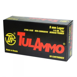 Tulammo Usa Steel Case Ammo 9mm Luger 115gr Fmj