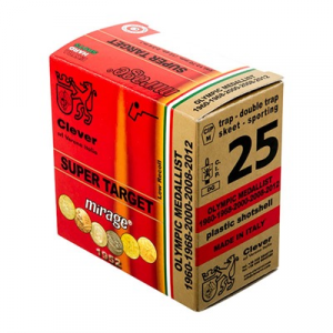 "Clever T1 Supertarget Ammo 12 Gauge 2-3/4"" 1-1/8 Oz #7.5 Shot"