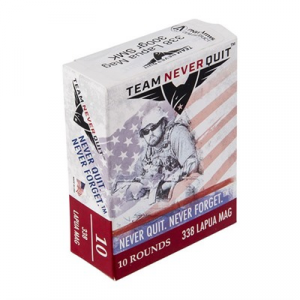 Team Never Quit Rifle Ammo 338 Lapua Magnum 300gr Hpbt