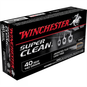 Winchester Super Clean Ammo 40 S&W 140gr Jsp