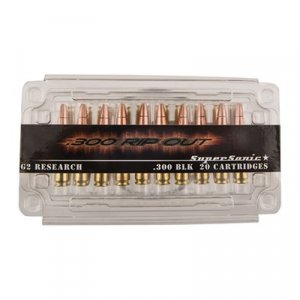 G2 Research Rip Out Ammo 300 Aac Blackout 110gr Solid Copper Hp