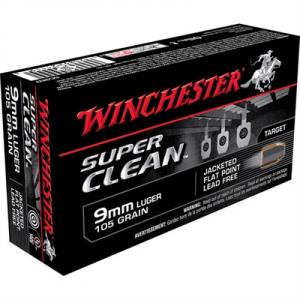 Winchester Super Clean Ammo 9mm Luger 105gr Jsp