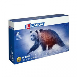 Lapua Mega Ammo 9.3x62mm Mauser 285gr Soft Point