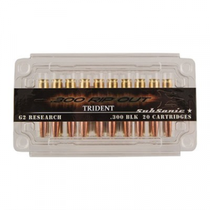 G2 Research Rip Out Ammo 300 Blackout Subsonic Trident 200gr Solid Copper Hp