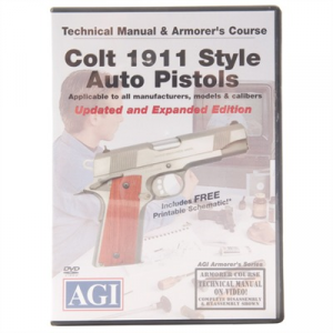 Agi Colt 1911 Pistol Technical Manual & Armorer's Course Dvd
