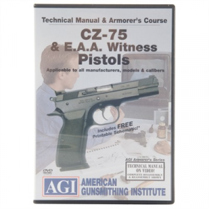 Agi Cz-75 & Eaa Witness Technical Manual & Armorer's Course Dvd