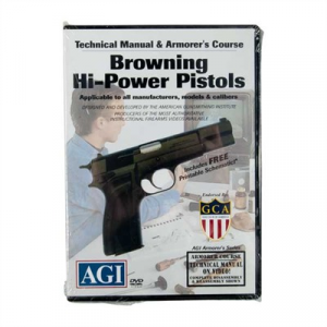 Agi Browning Hi-Power Pistols Technical Manual & Armorer's Course Dvd