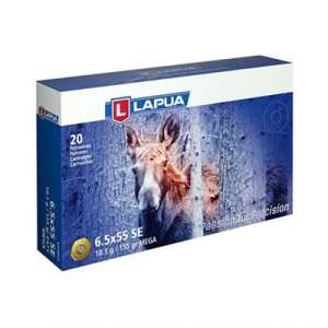 Lapua Mega Ammo 6.5x55mm Swedish Mauser 155gr Soft Point
