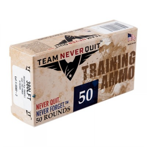 Team Never Quit Frangible Lead Free Training Ammo 380 Auto 75gr Fmj-Fn