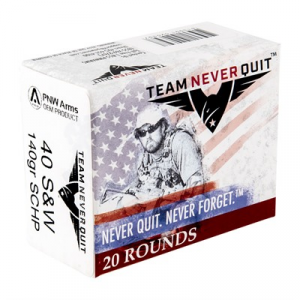Team Never Quit Self Defense Ammo 40 S&W 140gr Schp