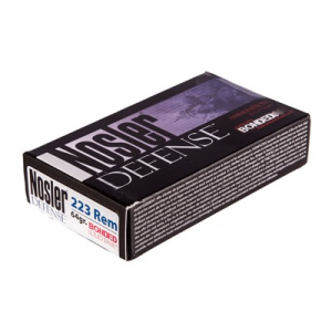 Nosler, Inc. Defense Ammo 223 Remington 64gr Bonded