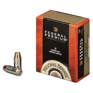 Federal Personal Defense Ammo 40 S&W 155gr Hydra-Shok