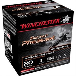 "Winchester Super Pheasant Ammo 20 Gauge 3"" 1-1/4 Oz #5 Shot"