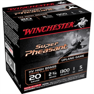 "Winchester Super Pheasant Ammo 20 Gauge 2-3/4"" 1 Oz #5 Shot"