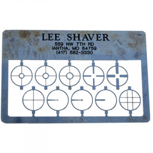 Lee Shaver Post & Aperature Card, 17a Sight