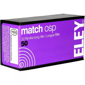 Eley Americas Match Osp Ammo 22 Long Rifle 40gr Lead Round Nose