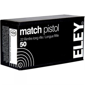 Eley Americas Match Pistol Ammo 22 Long Rifle 40gr Lead Round Nose