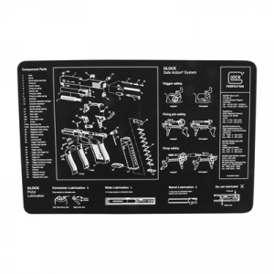 Glock Bench Mat, Black Neoprene