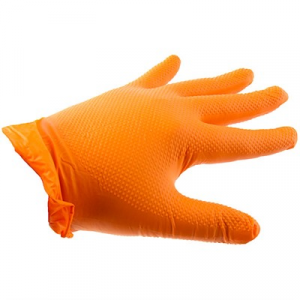 Ammex Corp. Orange Nitrile Hd Gloves