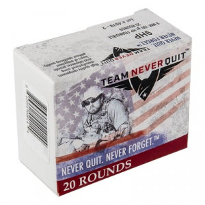Team Never Quit Frangible Hp Ammo 9mm Luger 100gr Hp