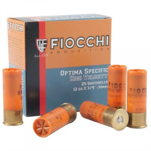 "Fiocchi Ammunition High Velocity Ammo 12 Gauge 2-3/4"" 1-1/4 Oz #6 Shot"