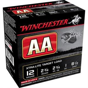 "Winchester Aa Extra Light Ammo 12 Gauge 2-3/4"" 1 Oz #8.5 Shot"