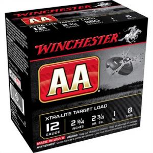 "Winchester 12 Gauge 2-3/4"" 1 Oz #8 Shot"