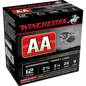 "Winchester Aa International Ammo 12 Gauge 2-3/4"" 7/8 Oz #9 Shot"