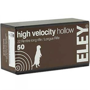 Eley Americas High Velocity Hollow Ammo 22 Long Rifle 38gr Lead Hollow Point