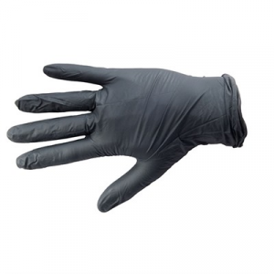 Ammex Corp. Black Nitrile Medical Grade Glove, Textured