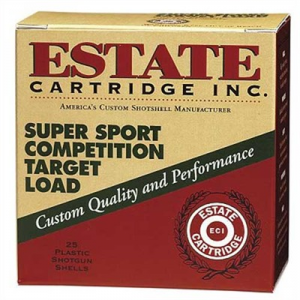 "Estate Cartridge Inc. Super Sport Competition Ammo 12 Gauge 2-3/4"" 1-1/8 Oz #8 Shot"