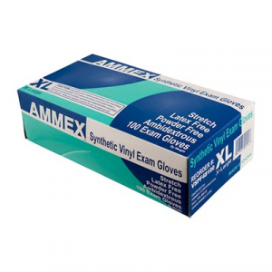 Ammex Corp. Stretch Synthetic Vinyl Exam Gloves