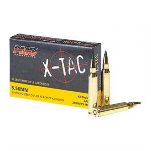Pmc Ammunition, Inc. X-Tac Ammo 5.56x45mm Nato 62gr Ss109 Fmj