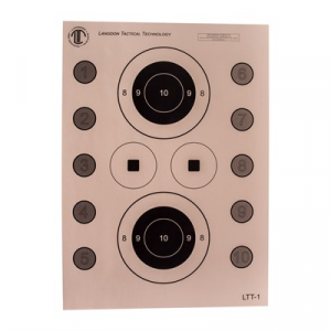 National Target Langdon Tactical Pistol Skills Target