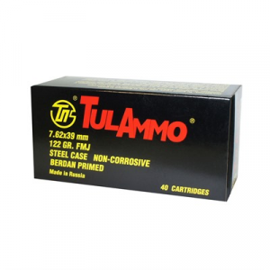 Tulammo Usa Steel Case Ammo 7.62x39mm 122gr Fmj