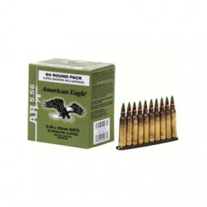 Federal American Eagle Ammo 5.56x45mm Nato 62gr Xm855 Clips
