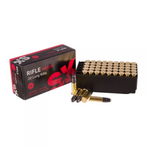 Sk Rifle Match Ammo 22 Long Rifle 40gr Lead Round Nose