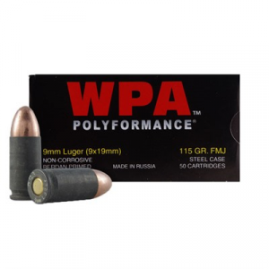 Wolf Polyformance Ammo 9mm Luger 115gr Fmj