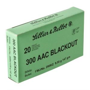 Sellier & Bellot 300 Aac Blackout 147gr Fmj Ammunition