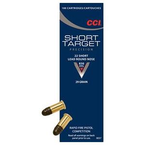 Cci Short Target Short Ammo 22 Short 29gr Lead Round Nose